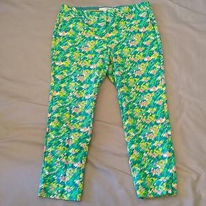 Boden colorful abstract print pants size 10R